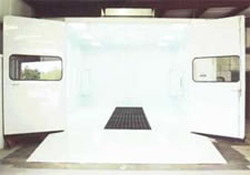 Down Draft Paint Spray Booth with Raised Floor - Model DD 1426-10 RF