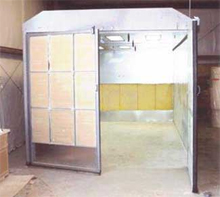 Cross Draft Paint Spray Booth - Model CD1012-8 Woodworking shop for spraying cabinets
