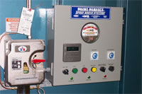 SK Bowling Down Draft Spray Booth Control Panel