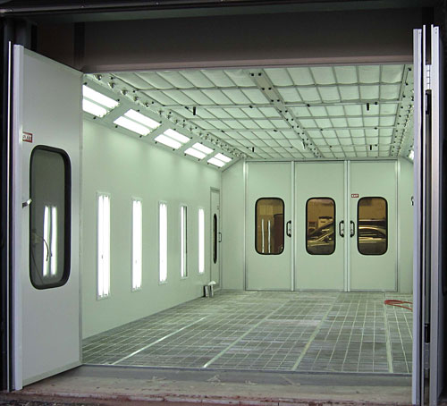 Down Draft Booth with Double Walls : Paint Spray Booths ...